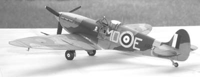 model Spitfire airplane