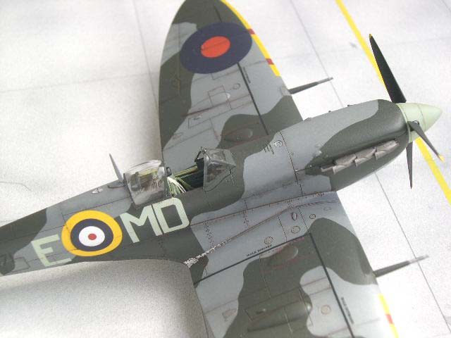 weathered Spitfire model airplane, 1